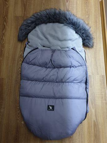 Śpiwór do wózka cotton moose zimowy szary