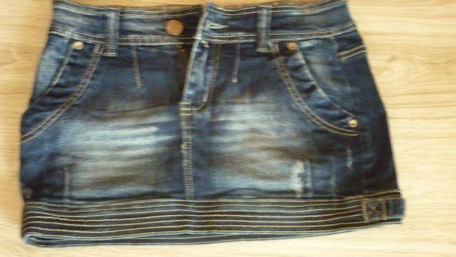 Spódniczka mini jeansowa 36s jak nowa