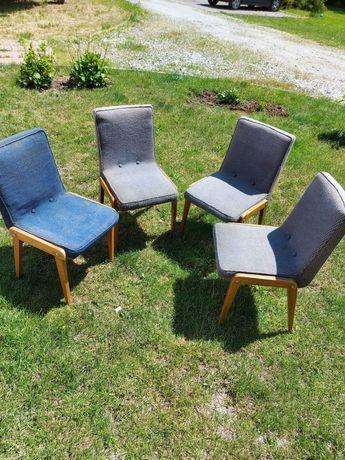 Krzesła PRL do renowacji 4 sztuki