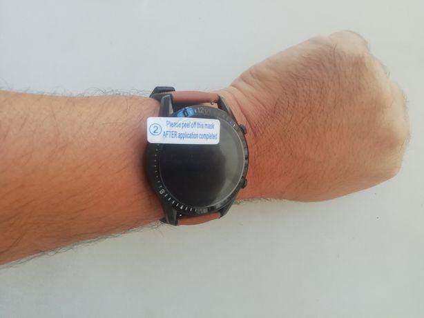 Relógio Smartwatch com chamadas via bluetooth (Novo) brac castanha