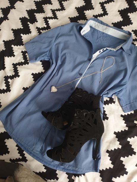 Elegancka koszula w paseczki L 40