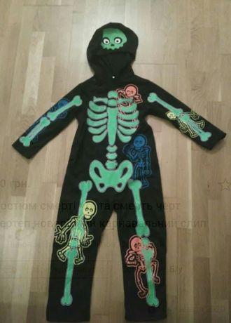 Продам костюм на Хеллоуїн новорічний скелет смерть чорт черт павук