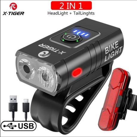 Luz USB bicicleta  (luz noturna) prova de água