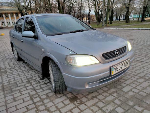 Авто Opel Astra G. 2007г. 1.4. Газ 4 пок. кондиционер