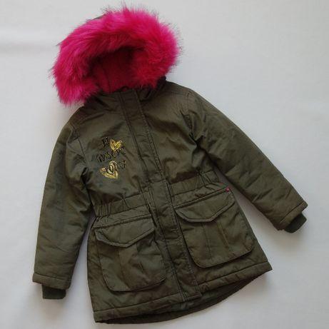 Cool Club ocieplana kurtka dziewczęca parka 110 bdb