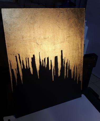 Картина Абстракция золото 40×50