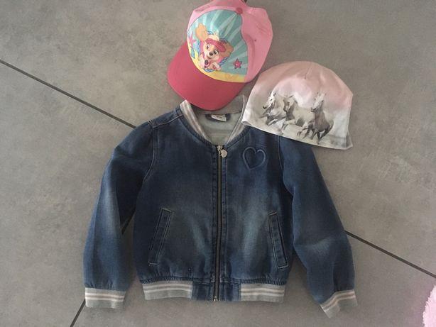 Katana kurtka jeansowa + czapka Skya czapka h&m