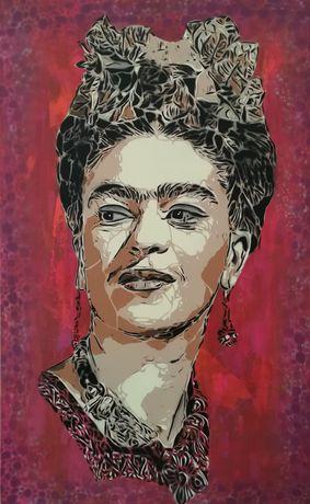 Frida kahlo pintura original em tela