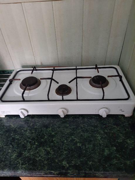 kuchenka gazowa 3 palnikowa + butla gazowa 11 kg