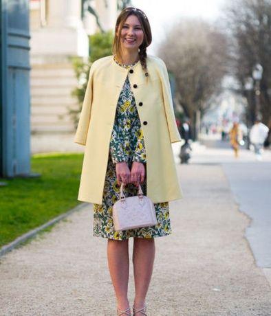 ZARA płaszcz NOWY śliczny pudrowy żółty roz.S PROMOCJA płaszyk