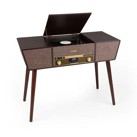 Belle Epoque 1912, gramofon retro, CD, BT, USB, DAB +/FM, brązowy