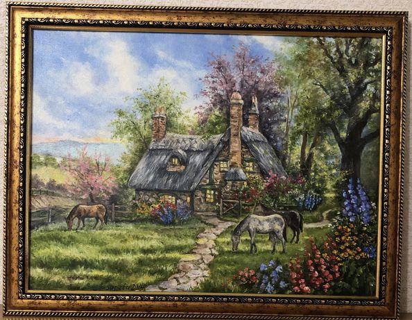 Картина маслом на холсте 40 x 30 в раме