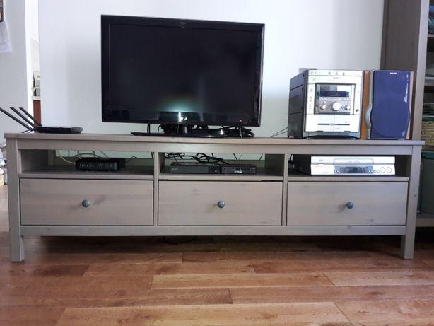 Szafka RTV Ikea Hemnes szarobrązowa