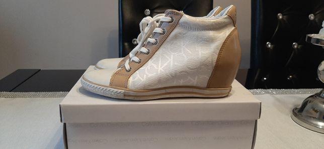 OKAZJA Sneakersy Calvin Klein buty trampki logo 40 logowane Oryginalne