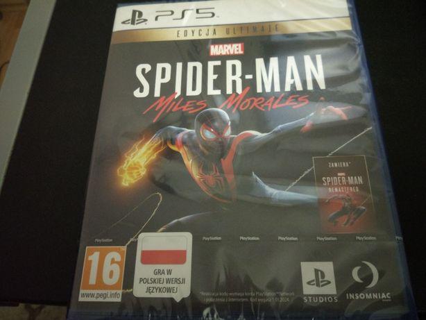 Spider Man miles Morales edycja ultimate na ps5 + kod