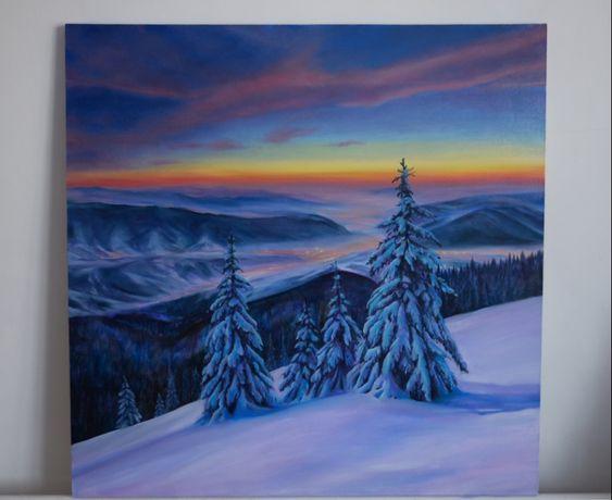 Картина маслом. Зимовий пейзаж 80Х80