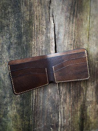 Portfel skórzany EDC, card holder, portfel męski, skóra handmade