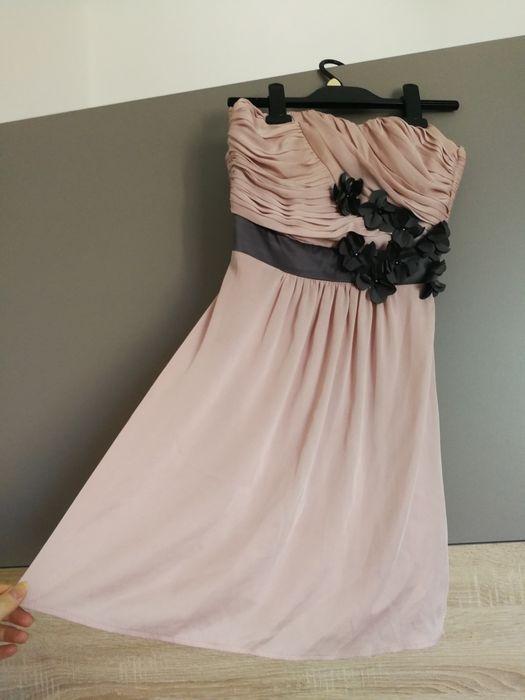 Pudrowa sukienka H&M rozmiar XS Prószków - image 1