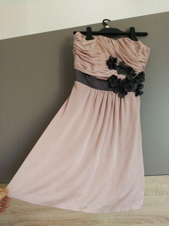 Pudrowa sukienka H&M rozmiar XS