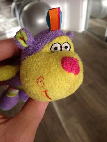 обезьянка мягкая игрушка-погремушка