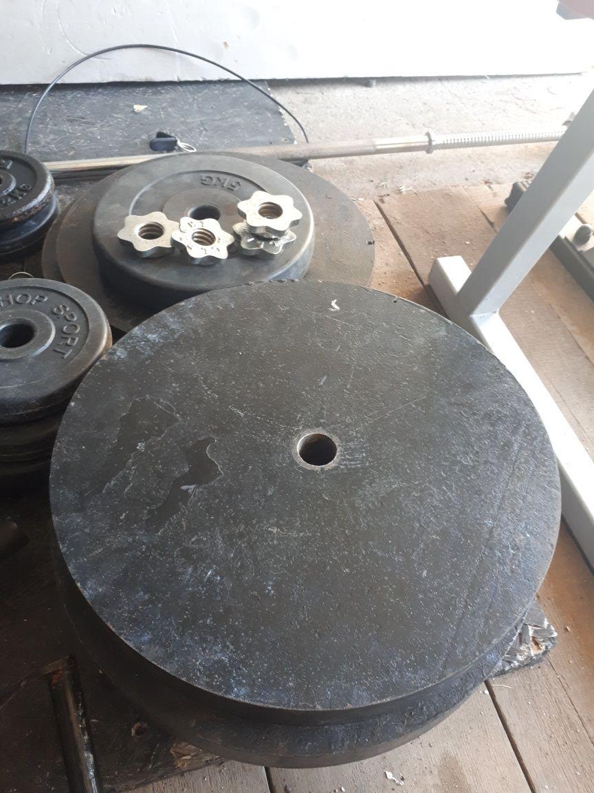 Obciażenie stalowe 1x14.5kg 1x17kg
