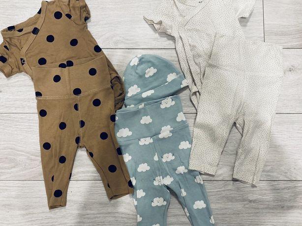 H&M 3 szt cudnych zestawów dla noworodka body spodnie 62