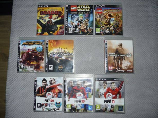 Gry PS3 Motor Storm Pacific Rift Call Of Duty Fifa How to train your