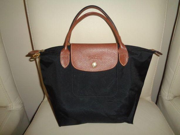 LONGCHAMP 100% oryginalna czarna brązowa torba torebka shopper OKAZJA