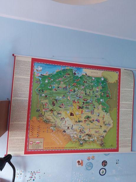 Mapa ścienna polski