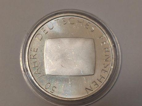 """2002r. 10 Euro Moneta """"50 Jahre Deutsches Fernsehen"""" (G)"""