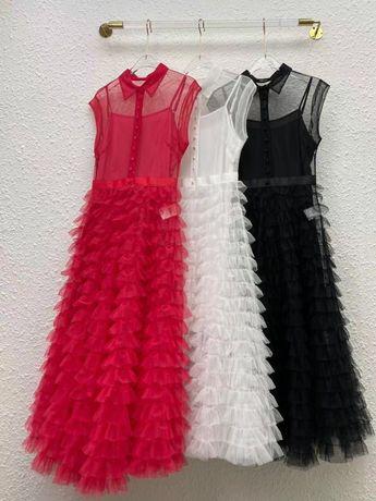 Платье dior красное диор в наличии пышное
