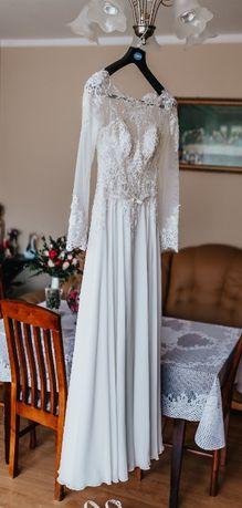 Piękna suknia ślubna roz. 34/36, używana