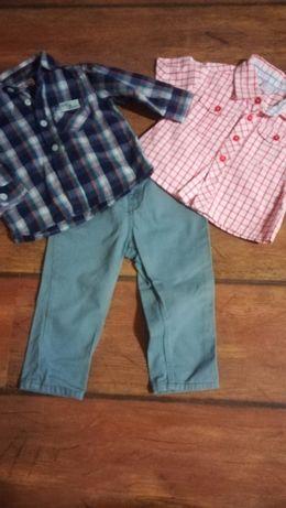 Spodnie H&M koszula rozm. 80 Zestaw dla chłopca!