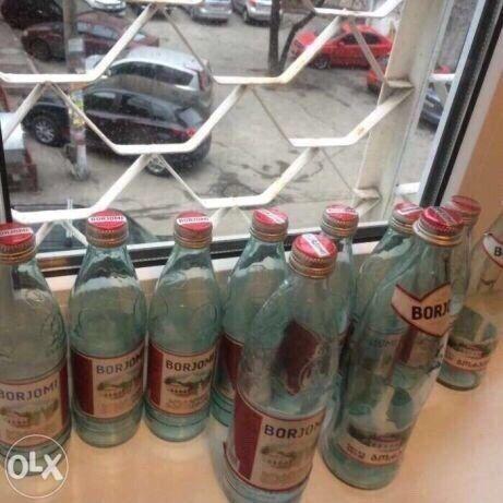 Бутылки стекло с крышками минералка минералвода Боржоми Шиянська Сітро