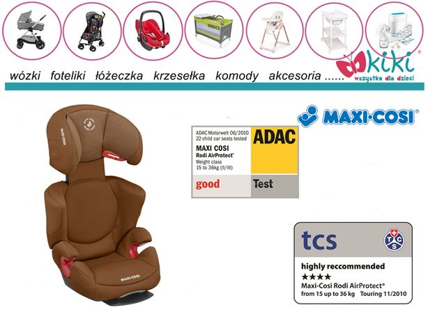Maxi Cosi Fotelik 15-36 Rodi AirProtect Authentic Cognac