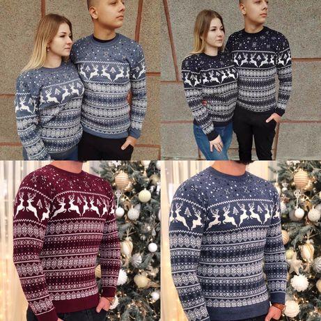 Жіночий новорічний свитер з оленями Женский новогодний свитер Топ