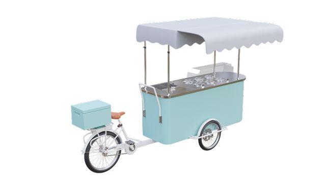 Rower do lodów | Riksza gastronomiczna | 6+4 kuwety | 8+6 | Napęd el.