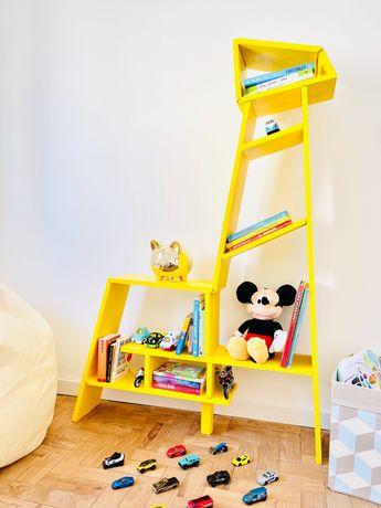 Estante de livros   quarto de criança   girafa