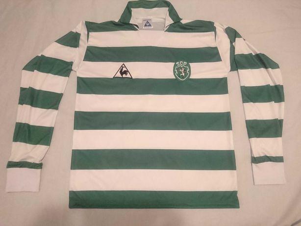 Camisola Le coq Sportif Sporting 83/84 9 Manuel Fernandes