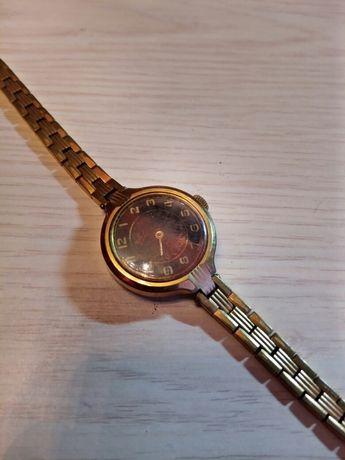 """Часы""""Луч""""(корпус, браслет позолота AU10)"""