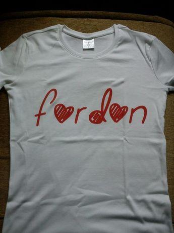 Koszulka bawełniana z napisem Fordon