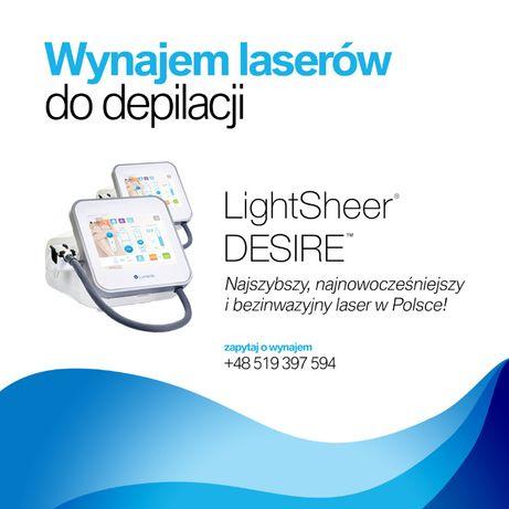 Wynajem lub współpraca lasera LightSheer Desire
