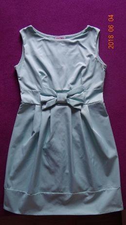 Miętowa sukienka L