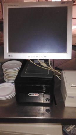 Computador com programa restauração + impressora térmica + scanner