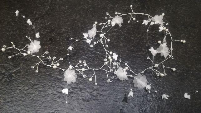 Ozdoba do włosów ślub diadem gałązka warkocz