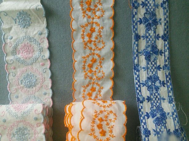 Тесьма (канва)машина вишивка
