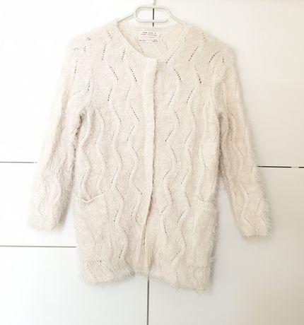 Sweter zapinany Zara, rozmiar128