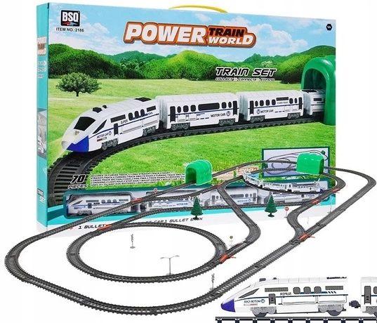 Детская железная дорога BSQ 2186 70 элементов, длина 900 см