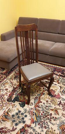 Drewniane krzesło po renowacji