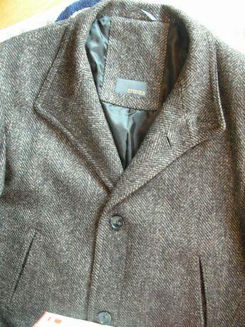 Męska wełniana kurtka XL/XXL jesionka vintage płaszcz 54 wełna GERMANY